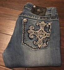 MISS ME  jeans Size 31 Boot JW5374B Studs And Stones Pocket