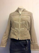 Gorgeous Beige Cord Military Style Jacket from Principles - Size 10 - Worn Once!