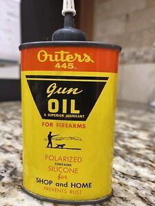 Vintage Outers 445 Gun Oil Handy Oiler Advertising Tin Can 3 Oz. Empty
