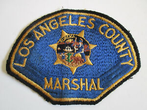 vintage LAPD Los Angeles County Marshal California State Police Patch