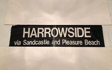 "Harrowside Sandcastle Pleasure Beach Blackpool Vintage Bus Blind March 1974 37"""