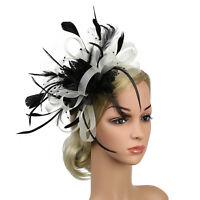 Fascinators Hat Feather Flower Headwear Fashion Women Wedding Party Bridal Tiara