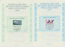 Jahresgabe des Bundes deutscher Philatelisten 1979 - 1988 + 1997.