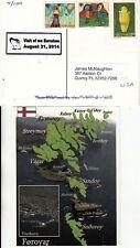 FAROE ISLANDS 2014 postcard from Torshavn for visit of ms Eurodam August 31