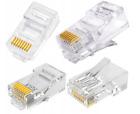 RJ45 LAN CAT5e Cable Crimp End Plug Connector For Network Ethernet 027
