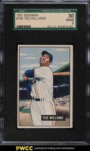 1951 Bowman Ted Williams #165 SGC 2 GD