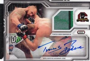 Travis Browne 2014 Topps UFC Champions Autograph Relic Card