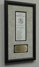 Abraham Lincoln 1864 Framed Original Election Ballot Ticket