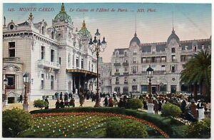 POSTCARD - MONACO - MONTE-CARLO - LE CASINO - L'HOTEL DE PARIS - Col - Ar 1910
