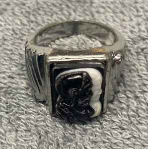 Vintage Roman Soldier Cameo Ring Art Deco Men's Ring