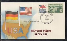 C 22 ) Germany Fantastic Cover - German Cities in USA: Cologne Minnesota