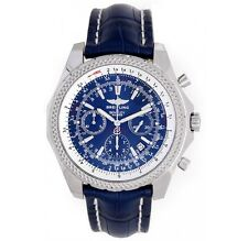Breitling Bentley Motors Stainless Steel Neptune Blue Dial on Blue Croco A25362