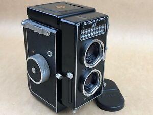 Ricoh Auto 66 TLR 120 Film Camera w/ riken 8cm f/3.5 the Rolleimagic Competitor