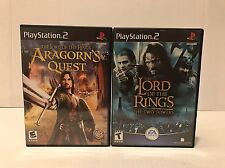 Lord of the Rings: Aragorn's Quest & The Two Towers Games Sony PlayStation 2 PS2