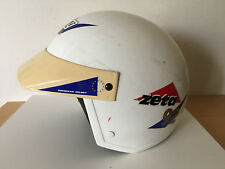 Used - Vintage Motorcycle TRYAL HELMET  NZI CASCO TRIAL para Moto - Color Blanco