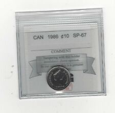 **1986**, Coin Mart  Graded Canadian,  10  Cent, **SP-67**