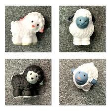 4pcs Fisher Price Little People Black White Lambs Cute Sheep Doll Christmas Toys