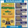 Piles Plate bouton [AG1 AG3 AG4 AG10 AG12 AG13 CR1620 CR2016 CR2032 CR2025] 0% M