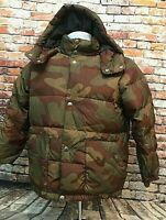 GAP Kids Goose Down Puffer Winter Jacket, Insulated Lining, Camo, Size Medium 8