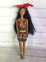 Vintage Mattel Disney Princess Pocahontas Doll With Dress Streaked Hair For OOAK