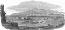 ITALY. Messina, from Faro, antique print, 1848