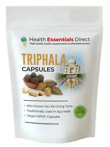 Triphala Capsules - High Strength 700mg (Colon Cleanse, Eye Health, Life Tonic)