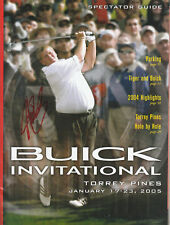 JOHN DALY SIGNED AUTO'D BUICK INVITATIONAL SPECTATOR GUIDE MAGAZINE PGA OPEN A
