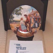 Oh What A Beautiful Mornin'-Oklahoma-Knowles Plate-13174H in original box