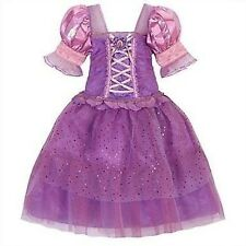 Disney Store Tangled Rapunzel Costume Dress Up Pink Princess Halloween Gown NEW