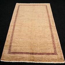 Designer Orient Teppich 208 x 130 cm Perserteppich Gabbeh Modern Beige Carpet
