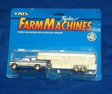 Ford F-250 Pickup With Livestock Trailer by Ertl.  Die-cast, B18