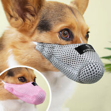 Soft Mesh Dog Muzzle Breathable Mouth Cover Anti-Bite Bark for Small Medium Dogs