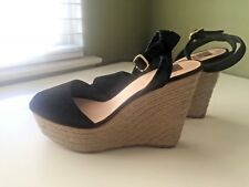 DOLCE VITA WOMENS BLACK SUEDE WEDGES SIZE 10