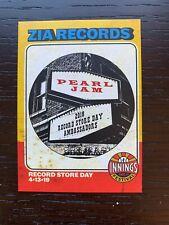 Pearl Jam Record Store Day - Zia records - Commemorative card