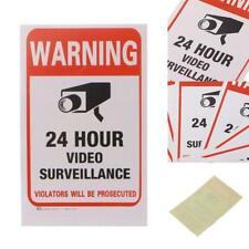 5x Überwachungskamera Video Aufkleber Warnung Aufkleber Zeichen Aufkleber S I2W7