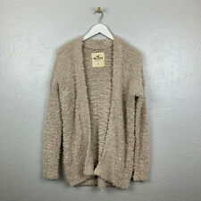 Hollister Size S Cream Eyelash Knit Open Front Oversized Sweater Cardigan