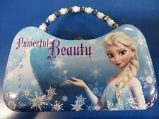 Disney Frozen Anna Elsa Princess Toy Gift Tin Purse Container w/Beaded Handle