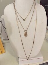 Lucky BRAND Jewelry Jlry2031 Gold-tonelucky Layers Paddle Necklace