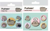 Official Pusheen the Cat Pack of 5 x Button Pin Badges Badge