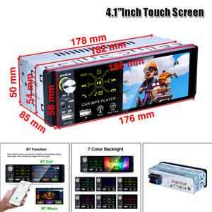 "1Din 4.1"" Touch Screen Car Stereo Radio Mp5 Player Bluetooth FM Radio Dual USB"