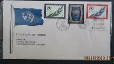 1970 Scott 212, U. N. FDC Official U. N. Cachet used 6, 13 and 25 cents