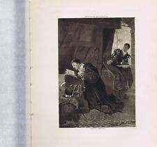 Louis XI and Olivier le Dain - Photogravure 1894