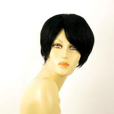 perruque femme 100% cheveux naturel courte noir ref WITNEY 1b