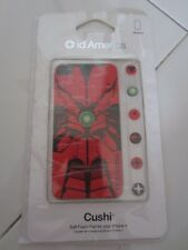 RARE Red Spidey Spiderman id America Cushi Backplate iphone 4 4S w LCD Protector