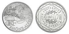 Pièce de 10 euros en argent de la région Rhône-Alpes - Euro des régions 2011 -