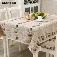 Crown Pattern Kitchen Table Cloth Cotton Linen Rectangular Dining Table Cover