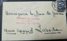 O) 1937 MOROCCO - SPANISH CIVIL WAR, 1E75 BLUE-YVERT 584, WITH INSTRUCTIONAL PEN
