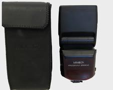 Minolta Maxxum 3500xi Shoe Mount Flash Japan w/Case & Stand no battery cover