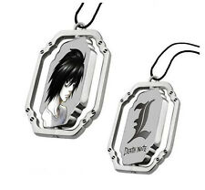Trendy Japanese Anime Series Jewelry Death Note L Metal Rotatable Necklaces
