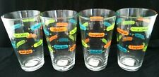 COCKTAIL RECIPE BRIGHT HIGHBALL GLASSES Set Of 4 Never Used